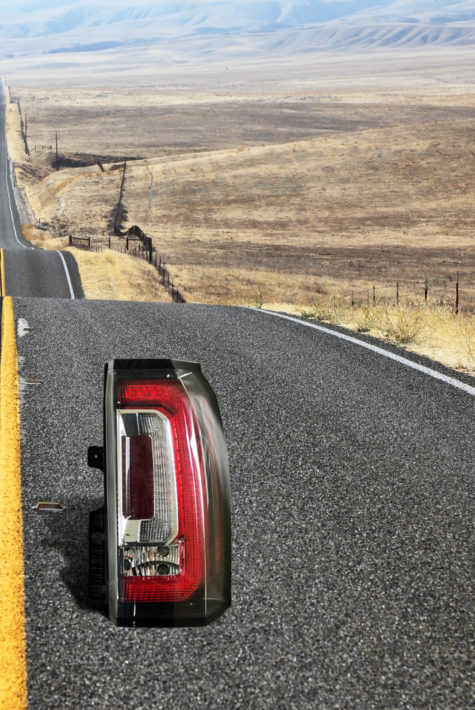 Passenger Side Denali Yukon Tail Light Repair on Road