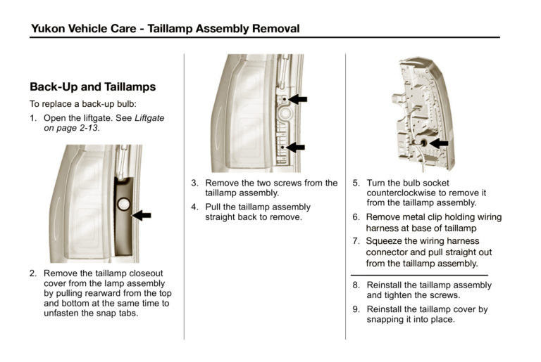 How To Remove and Replace Yukon Taillamp